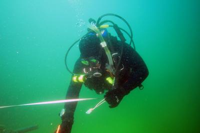 archeology scuba diver